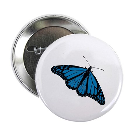 Blue Butterfly Button