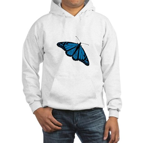 Blue Butterfly Hooded Sweatshirt