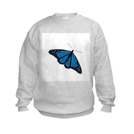 Blue Butterfly Kids Sweatshirt