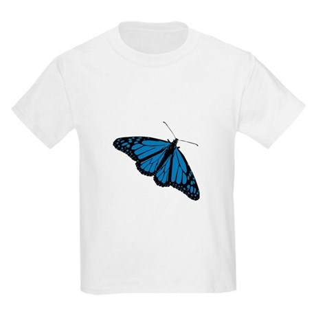 Blue Butterfly Kids T-Shirt