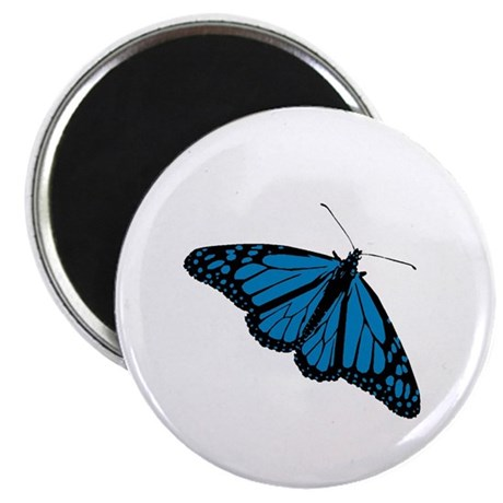 "Blue Butterfly 2.25"" Magnet (100 pack)"