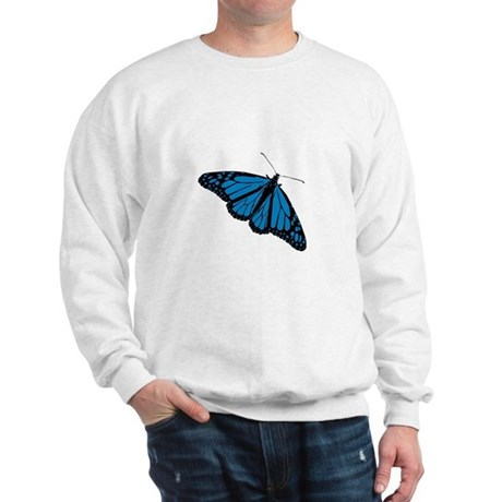 Blue Butterfly Sweatshirt