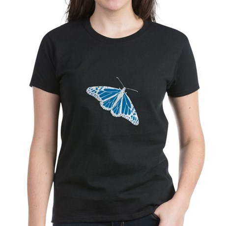 Blue Butterfly Women's Dark T-Shirt