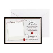 Foxy Memorial Card