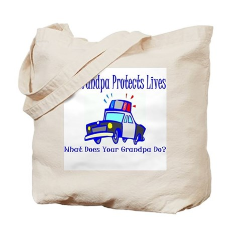 Police Protects Lives-Grandpa Tote Bag