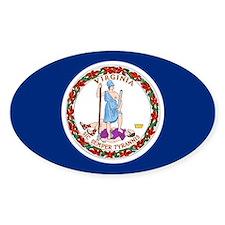 Virginia Flag Oval Decal