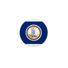 Virginia Flag Mini Button (10 pack)