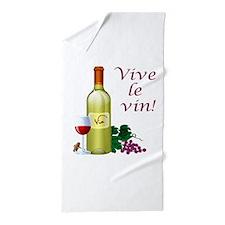 Vive le Vin Beach Towel