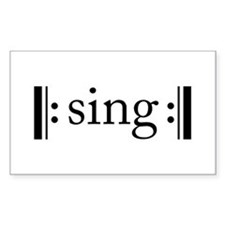 Repeated Sing Rectangle Decal