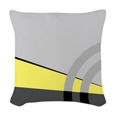 Yellow and Gray Majestic Woven Throw Pillow