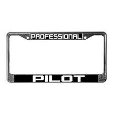 Professional Pilot License Plate Frame