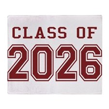 Class of 2026 (Red) Throw Blanket