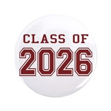 "Class of 2026 (Red) 3.5"" Button"