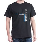 Black Bassist T-shirt (blue)