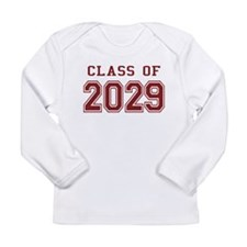 Class of 2029 (Red) Long Sleeve Infant T-Shirt