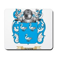 Given Coat of Arms (Family Crest) Mousepad
