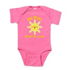 My Mimi Makes Me Laugh Baby Bodysuit