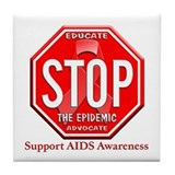 AIDS Awareness Tile Coaster