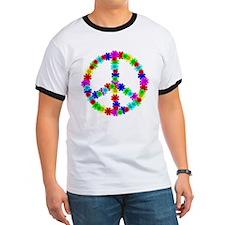 1960's Era Hippie Flower Peace Sign T
