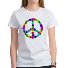 1960's Era Hippie Flower Peace Sig Tee