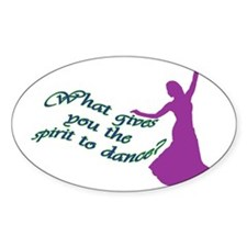 Spirit to dance Oval Decal
