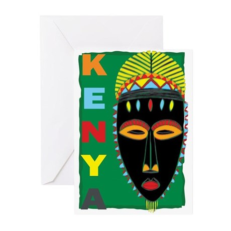 Kenya Mask Greeting Cards (Pk of 10)