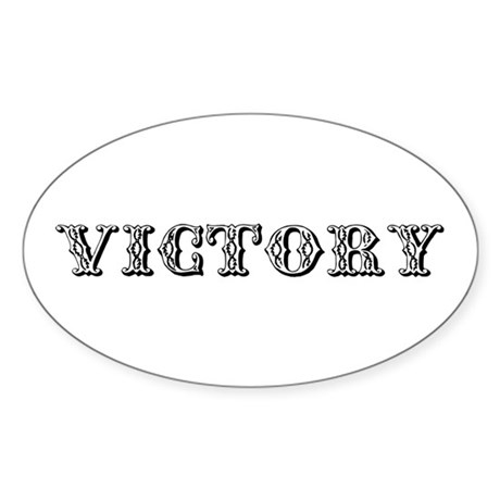 VICTORY Oval Sticker