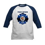 Fire Chief's Nephew Kids Baseball Jersey
