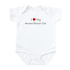 Love My Havana Brown Cat Infant Bodysuit
