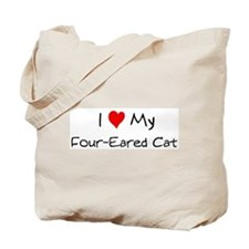 Love My Four-Eared Cat Tote Bag