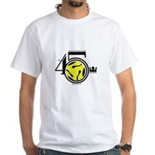 White 45 King logo T-Shirt