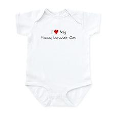 I Love Moggy Longhair Cat Infant Bodysuit