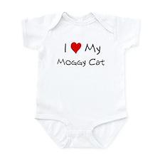 I Love Moggy Cat Infant Bodysuit