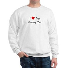 I Love Moggy Cat Sweatshirt