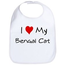 Love My Bengal Cat Bib