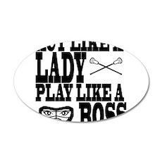 Lacrosse LadyBoss Wall Decal