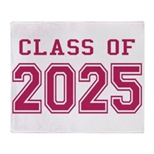 Class of 2025 (Pink) Throw Blanket