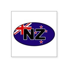 New Zealand (NZ) Flag Oval Sticker