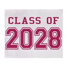 Class of 2028 (Pink) Throw Blanket