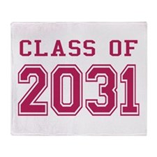 Class of 2031 (Pink) Throw Blanket