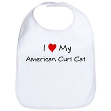 Love My American Curl Cat Bib