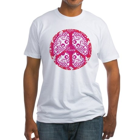 funky peace sign Men's Fitted T-Shirt