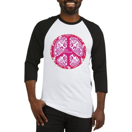 funky peace sign Men's Baseball Jersey