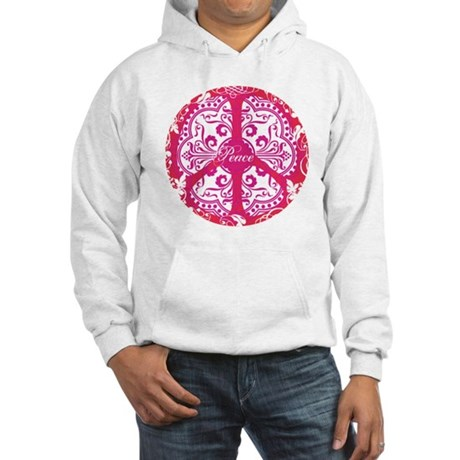 funky peace sign Men's Hooded Sweatshirt