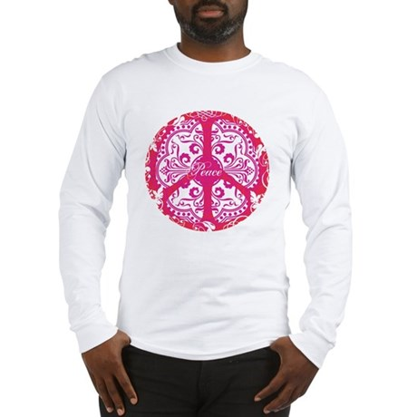 funky peace sign Men's Long Sleeve T-Shirt