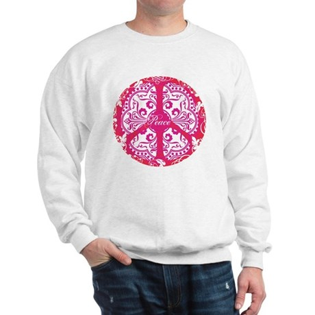 funky peace sign Men's Sweatshirt