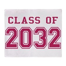 Class of 2032 (Pink) Throw Blanket