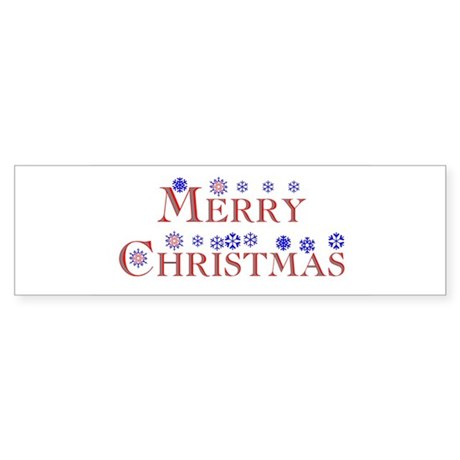 Merry Christmas Bumper Sticker