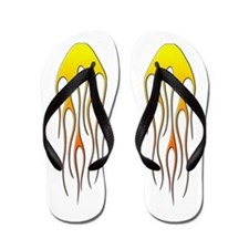 Cool Car Flames Flip Flops