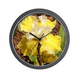 Wall Clock - Yellow Iris